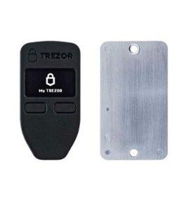 Trezor One Hardware Wallet - Zwart met back-up apparaat voor recovery seed