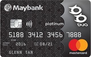 Maybank DUO Platinum Mastercard Review