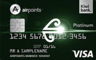 Kiwibank Air New Zealand Airpoints Platinum Visa