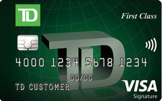TD First Class℠ Visa Signature® Credit Card review