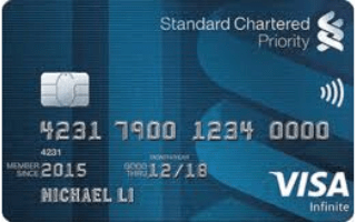 Standard Chartered Priority Banking Visa Infinite Credit Card Review