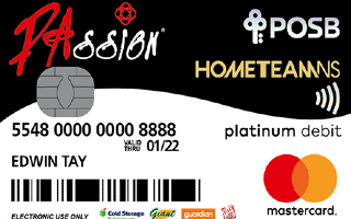 HomeTeamNS PAssion POSB Debit Card