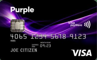 Purple Visa credit card
